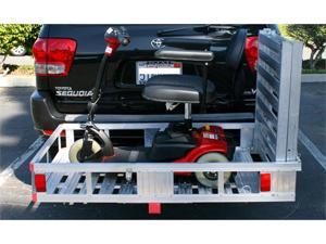 "MAXXTOW Aluminum Cargo Carrier with 60"" Folding Ramp 52-1/2"" x 29"" 70275-LBX"