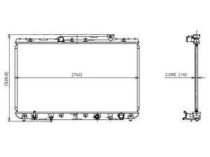 Denso 92-96 Toyota Camry Radiator 221-3131