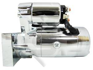 SB/ BB Chevy Mini Starter Motor, Chrome Tilton Style