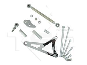 CHROME ALUMINUM ALTERNATOR BRACKET KIT FOR FORD 351 WINDSOR