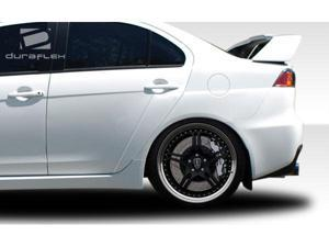 2008-2012 Mitsubishi Lancer Duraflex Evo X Look Rear Fender Flares (4-pieces) 106957
