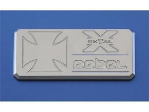 "T-REX  ""Rebel"" Series - Body Side Badges - 1 Pc - Chrome CHROME 6900012"