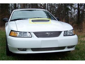 T-REX 1999-2002 Ford Mustang GT Models Only Billet Hood Scoop Insert - Will not fit 03-04 Models (5 Bars) - GT MODELS ONLY ...