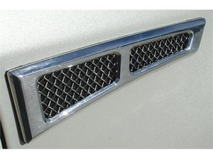 "T-REX 2007-2011 Lincoln MKX MKX Side Vents - Chrome Plated with Mesh - 1.75""x10"" - No Cutting Required (Part specific fit ..."