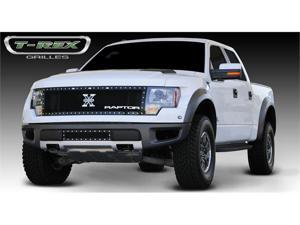 "T-REX 2009-2013 Ford Raptor F-150 SVT X-Metal Grille w/ 15"" Anodized Aluminum ""RAPTOR"" emblem - Black BLACK 6715661"