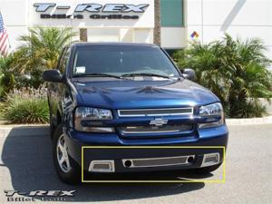 T-REX 2006-2009 Chevrolet Trailblazer SS Upper Class Polished Stainless Bumper Mesh Grille - 3 Pc Kit POLISHED 55284