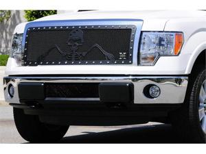"T-REX 2009-2012 Ford F-150 URBAN ASSAULT ""GRUNT"" - Studded Main Grille w/ Soldier - Black OPS Flat Black - Custom 1 Pc Opening ..."