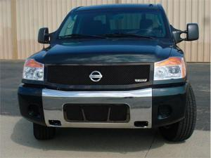 T-REX 2004-2012 Nissan Titan (04-07 Armada) Upper Class Mesh Grille - All Black - 1 Pc (Replaces OE Grille) BLACK 51779