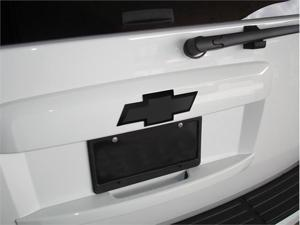 "T-REX 2007-2012 Chevrolet Tahoe, Suburban Billet Bowtie - Rear - w/Border - All Black (8"" Length) BLACK 19050B"