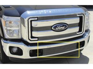 T-REX 2011-2012 Ford Super Duty Bumper Billet Grille Insert - Between Tow Hooks POLISHED 25546
