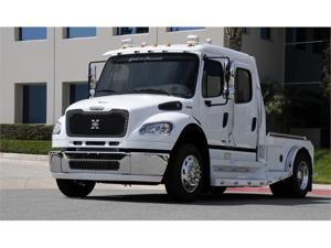 T-REX 2007-2010 Freightliner M2 106, M2e X-METAL Series - Complete Kit w/ Main Grille, Bumper Grille and SideVents - Black ...