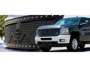 "T-REX 2007-2011 Chevrolet Silverado 1500 URBAN ASSAULT ""GRUNT"" - Studded Main Grille w/ Soldier - Black OPS Flat Black - ..."