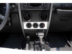 T-REX 2007-2010 Jeep Wrangler T1 Series Interior Dash Trim - Climate Control Panel MACHINED 10488