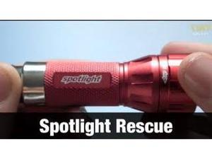 Spotlight Rescue LED Flashlight, Rechargable 96+ Lumens
