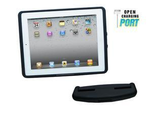 iPad 2 Standard Case and Car Mount head rest - Rubber Black Soft Touch finish