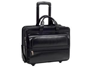 McKlein FRANKLIN Leather 17 in. Detachable-Wheeled Laptop Case