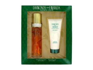 DIAMONDS & EMERALDS by Elizabeth Taylor Gift Set -- 3.3 oz Eau De Toilette Spray + 3.3 oz Body Lotion for Women