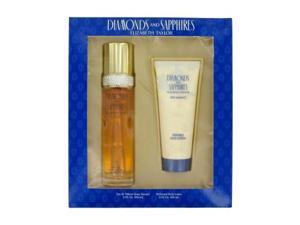 DIAMONDS & SAPHIRES by Elizabeth Taylor Gift Set -- 3.3 oz Eau De Toilette Spray + 3.3 oz Body Lotion for Women