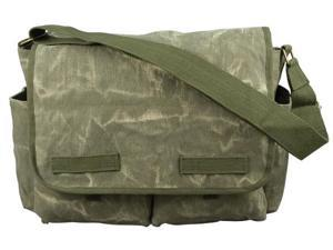 Rothco Stone Washed Messenger Bag - Olive Drab
