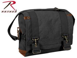 Vintage B-15 Pilot Messenger Bag by Rothco in Black