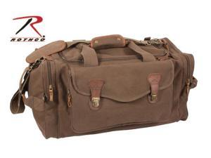 Rothco Long Weekend Canvas Bag With Leather Accents in Brown