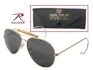 Rothco Air Force Style Sunglasses with Case in Gold