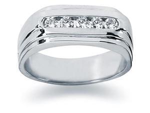 0.35 ctw. Men's Round  Diamond Wedding Band in Platinum