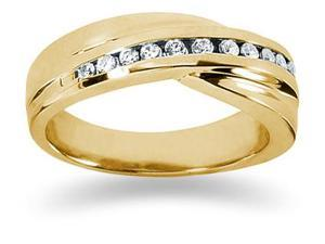 0.24 ctw. Men's Round  Diamond Wedding Band in 18K Yellow Gold