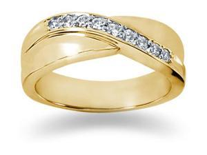 0.27 ctw. Men's Round  Diamond Wedding Band in 14K Yellow Gold