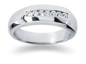 0.25 ctw. Men's Round  Diamond Wedding Band in 14K White Gold
