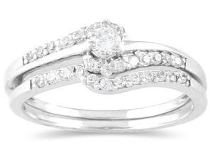 1/4 Carat Diamond Bridal Set in 10K White Gold
