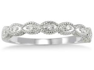 1/10 Carat TW Diamond Band in 10K White Gold