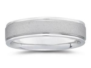 6 mm Brushed Center Comfort-Fit Wedding Band in Platinum