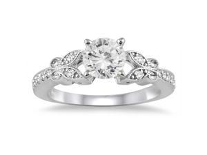 3/4 Carat Diamond Engagement Ring in 14K White Gold