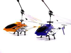 GIFT SET 2 Syma S107G R/C Helicopters Blue & Yellow with Gyro Shipping USA