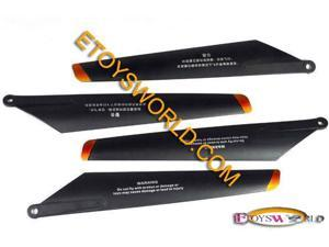 Updated Main Rotor Blade Set A And B 4 Pc For The Double Horse 9053 Gyro Helicopter