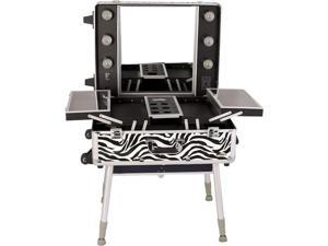 Zebra Print Makeup Case with Light