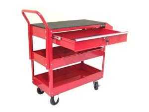 Excel Hardware 2tray 1drawer Rolling Metal Tool Storage Cart Red