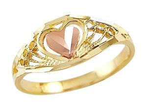 Heart Ring 14k Yellow Rose Gold Anniversary Band