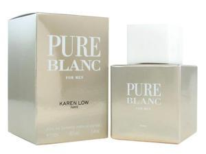 Pure Blanc Cologne by Karen Low 3.4 oz EDT Spray Men