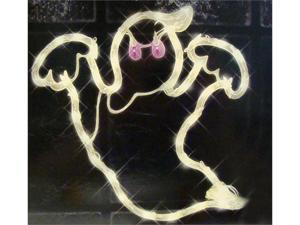 "15"" Lighted Halloween Spooky Ghost For Window or Yard Silhouette Decoration"