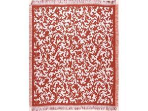 "Tangerine Hamlet Afghan Throw Blanket 50"" x 60"""