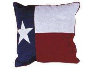 Set of 2 Long Star Texas State Flag Decorative Tapestry Throw Pillows 17""