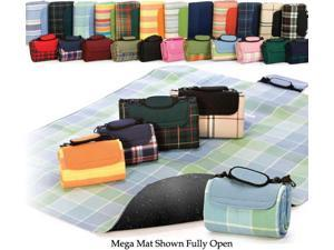 "48"" x 60"" Multi-Purpose Padded Waterproof Picnic Mega Mat - Navy Blue"