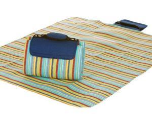 "48"" x 60"" Multi-Purpose Padded Waterproof Picnic Mega Mat - Blueberry Stripe"