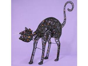 "32"" Light Up the Night Lighted & Animated Black Cat Halloween Decoration"