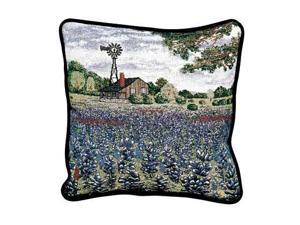 "Texas Bluebonnets Decorative Accent Throw Pillows 17"" x 17"""
