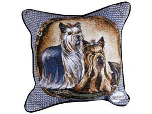 "Yorkshire Terrier Yorkie Dog Animal Decorative Throw Pillow 17"" x 17"""