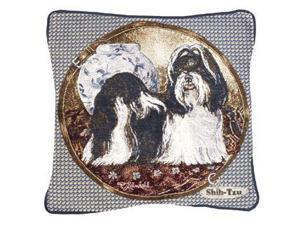 "Shih-Tzu Dog Animal Decorative Throw Pillow 17"" x 17"""