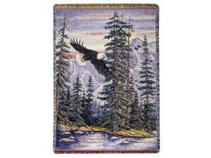 "Soaring Bald Eagle ""Majestic Flight"" Decorative Afghan Throw Blanket 50"" x 70"""